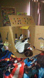 Finn Sleeping in Box