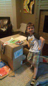 Finn with Box