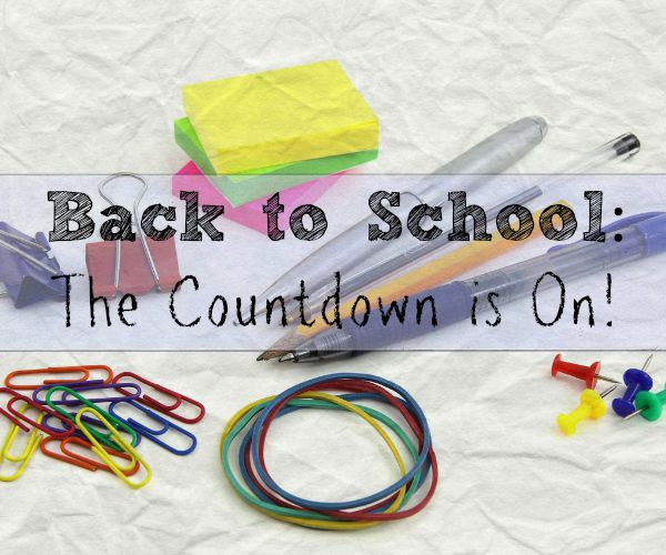 Back to School: The Countdown is On!