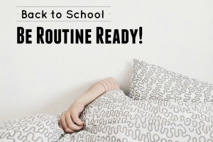 back to school routine