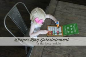 toddler diaper bag entertainment