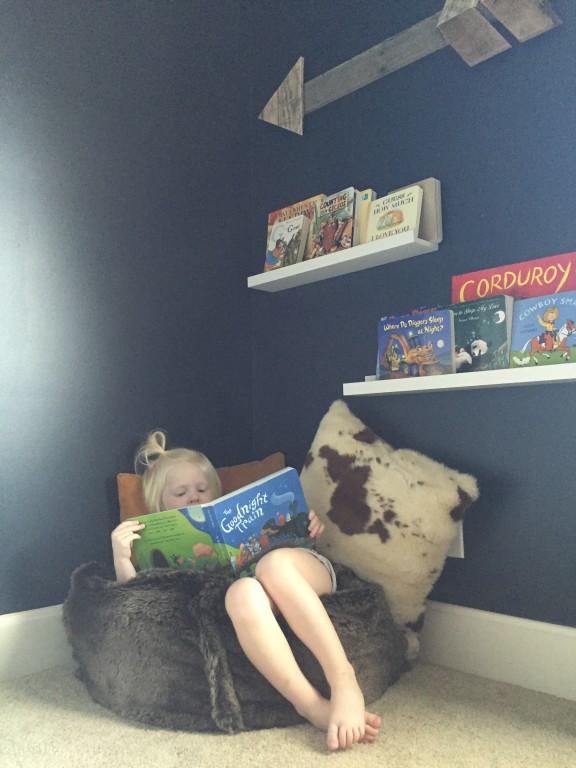 nursery reading nook