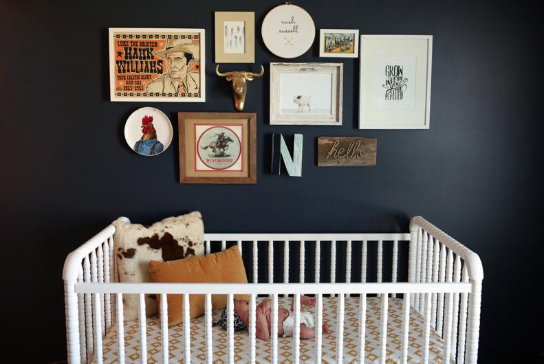 Baby boy nursery gallery wall