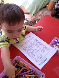 Activities for the littlest artists at the Plaza Art Fair.