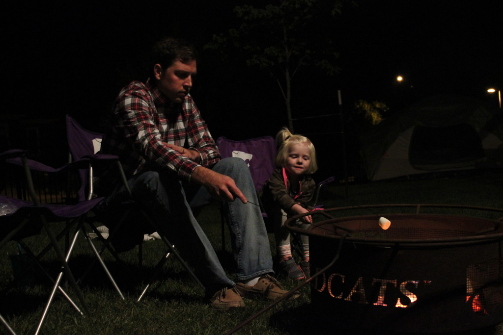 suburban backyard campout