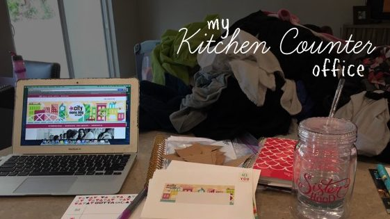 My Kitchen Counter Office