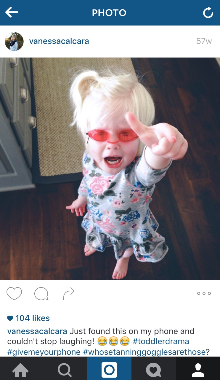 toddler instagram drama
