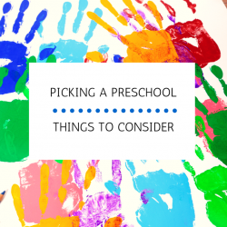 picking a preschool