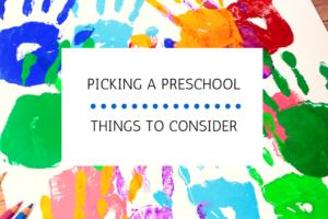 picking a preschool