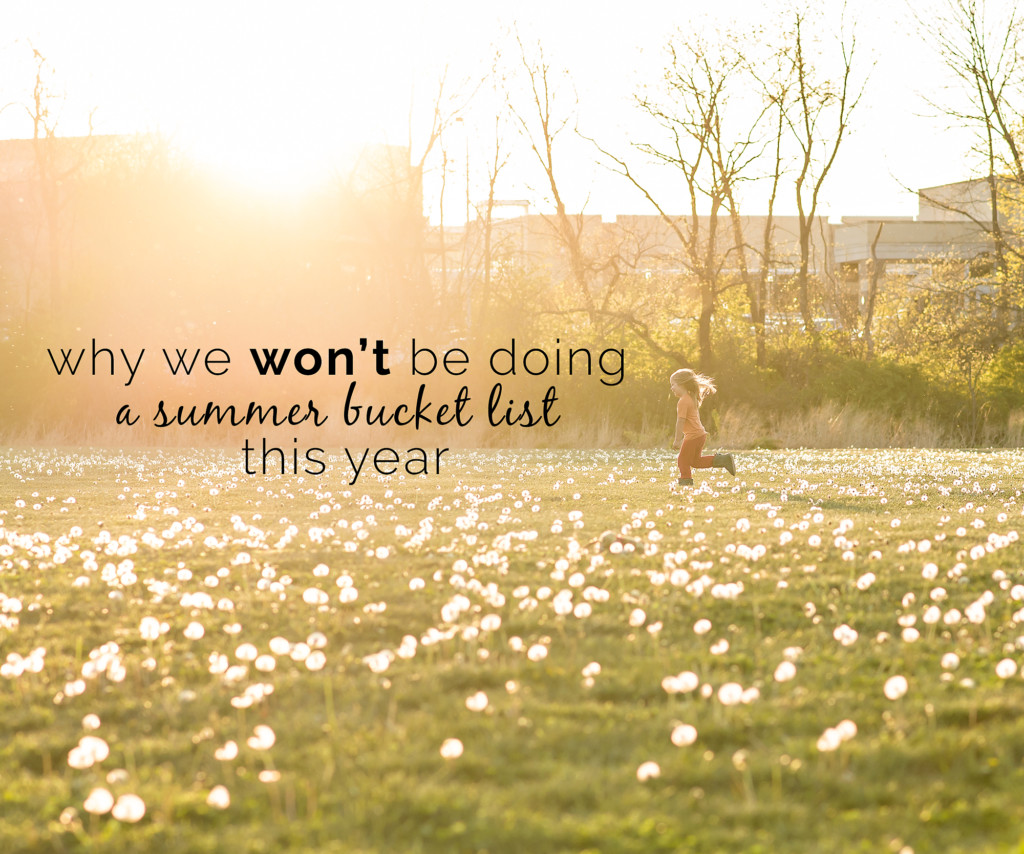 Anti Summer Bucket List