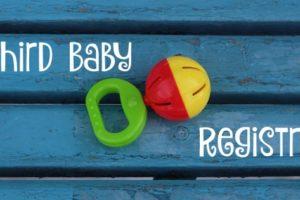 Third Baby Registry