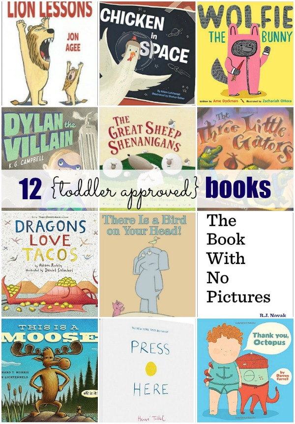 12 toddler approved books for story time.