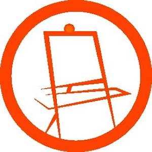 Orange Easel