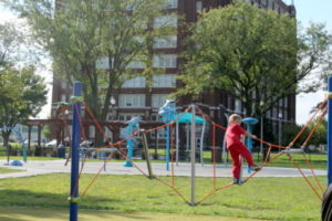 Dagg Park has a great playground and a splash pad open in the summer.