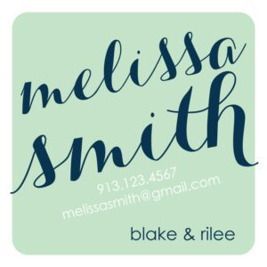 Family Calling Card