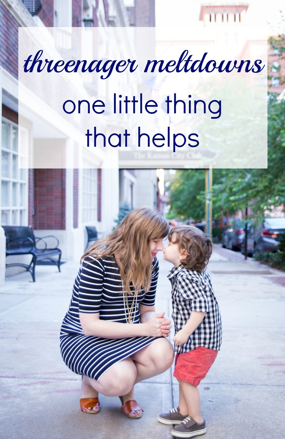 One thing I'm doing to help with 3-year-old meltdowns