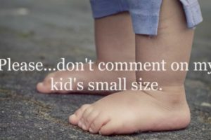 kid's small size