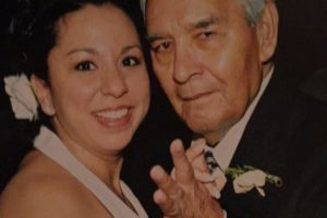 My grandfather, Macario, and I on my wedding day in 2004.