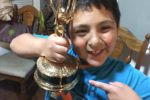 My husband is an Emmy award winning journalist. My son took an Emmy to his class show and tell.