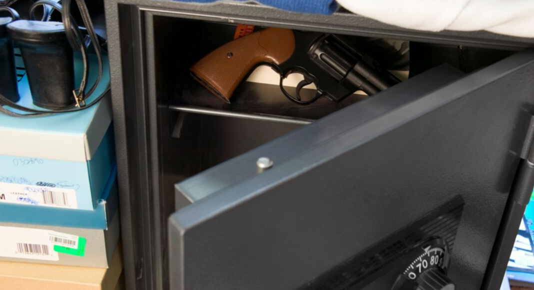 gun in safe