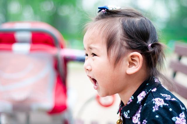 little girl upset