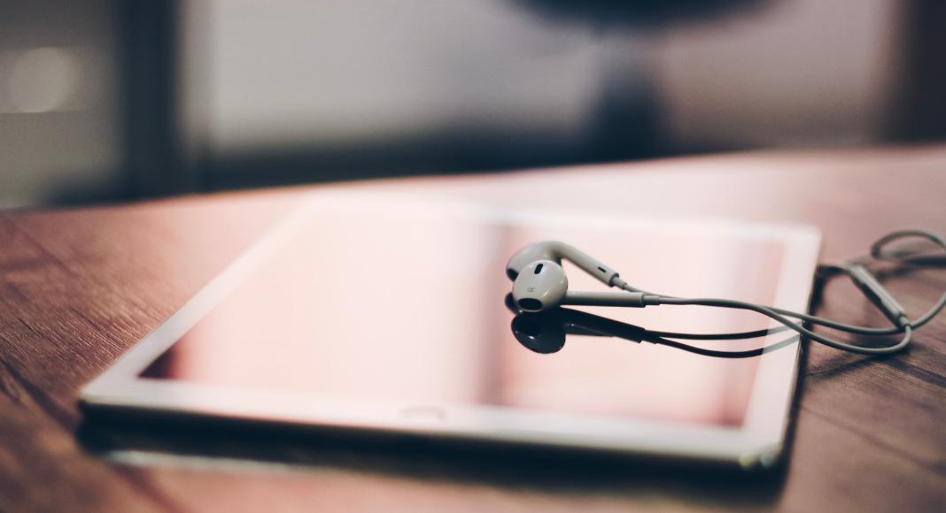 iPad and headphones