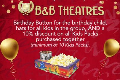 B&B Theatres Birthday Parties