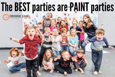 Orange Easel Art birthday party