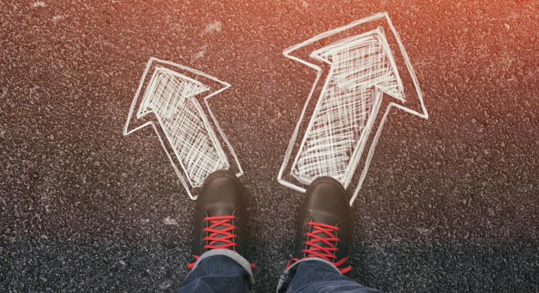 two decision arrows