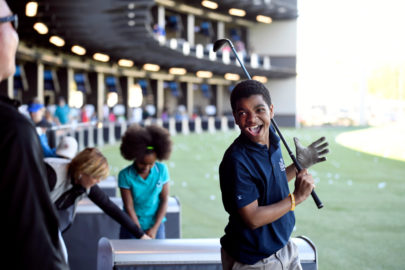 JACKSONVILLE, FL - MARCH 19: First Tee golfers play TopGolf during TopGolf Junior Day, First Tee and LPGA Girls Golf receive instruction from PGA TOUR and LPGA instructors at TopGolf on March 19, 2017 in Jacksonville, Florida. (Photo by Ryan Young/PGA TOUR)