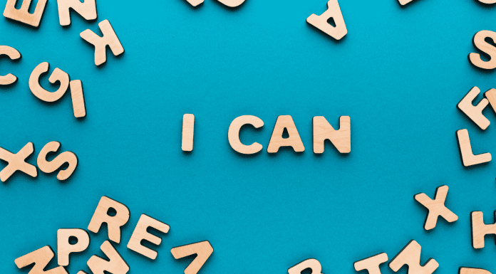 "pic of phrase ""I can"""