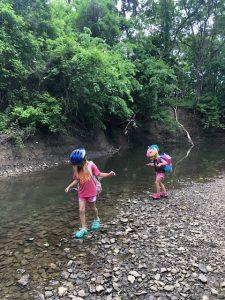 kids exploring creek