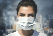 pic of woman wearing medical mask