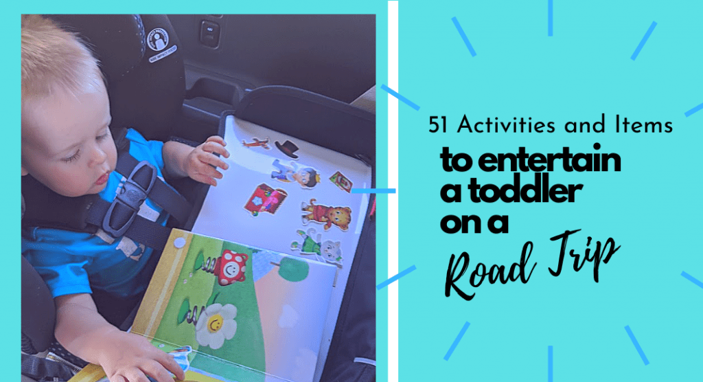 Pic of baby reading book in car