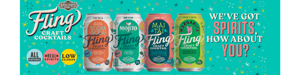 Fling canned cocktails by Boulevard