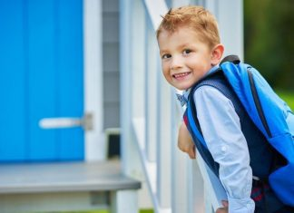 pic of little boy wearing backpack