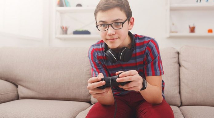 pic of boy playing video game