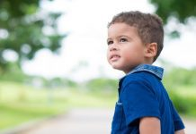 Pic of boy toddler outside