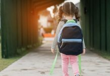 pic of little girl walking to school