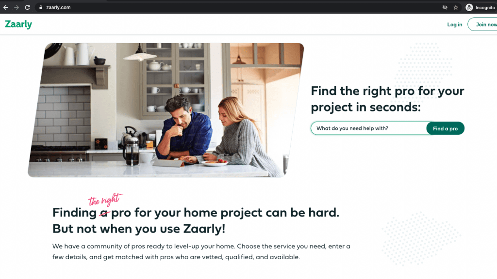 Zaarly website