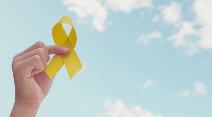 pic of yellow suicide prevention ribbon
