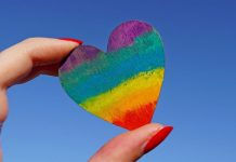 pic of rainbow heart