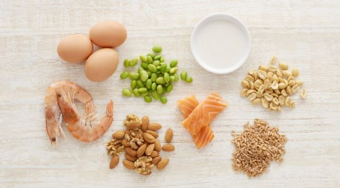 small portions of foods often causing allergy: eggs, nuts, shell fish, etc.