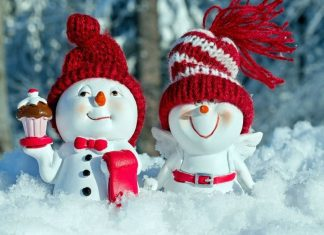 pic of two snow people
