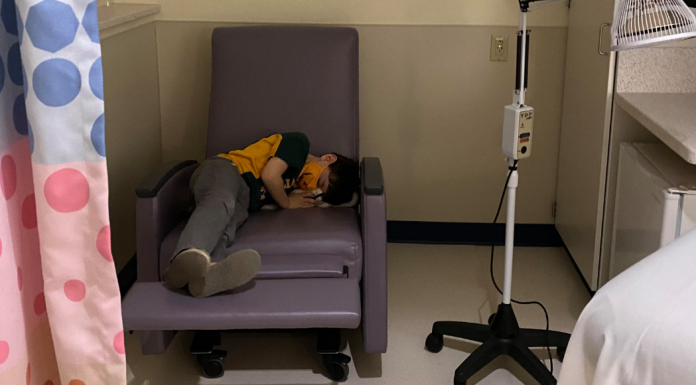 boy with migraine at Children's Mercy