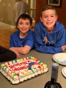 Two boys on their birthday