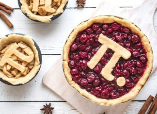 actual pies with the number pi on them