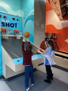 The Trick Shot is just like pop-a-shot