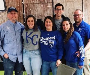 family at KC Royals Opening Day
