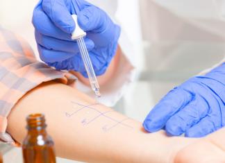 allergy skin test